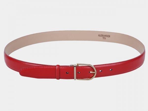 Уникальный красный женский модельный ремень ATS-999