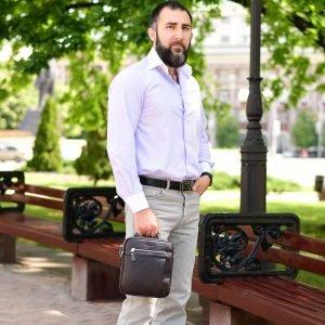 Неповторимая коричневая мужская сумка через плечо BRL-33398 223008