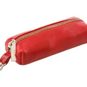 Кожаная красная ключница ATS-720
