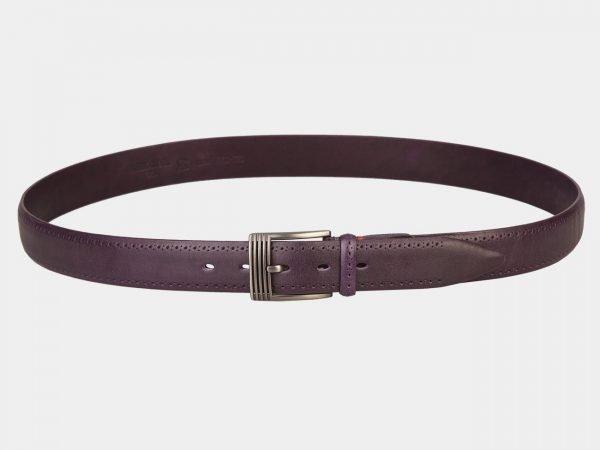 Солидный фиолетовый мужской классический ремень ATS-1282