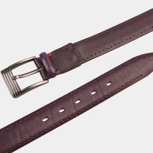 Кожаный фиолетовый мужской классический ремень ATS-1282