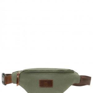 Солидная коричневая женская поясная сумка FBR-2548
