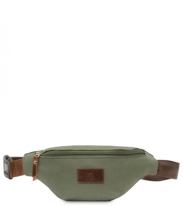 Стильная коричневая женская поясная сумка FBR-2548