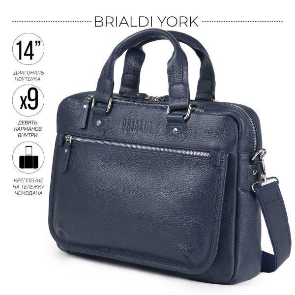 Функциональный синий мужской портфель деловой BRL-34108