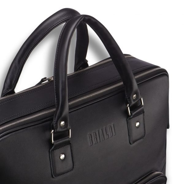 Стильная черная мужская сумка трансформер через плечо BRL-23165