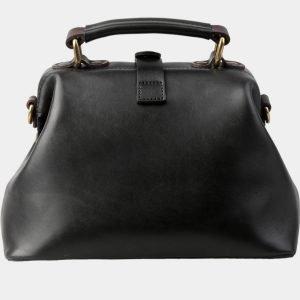 Вместительная черная сумка с росписью ATS-3152 213402