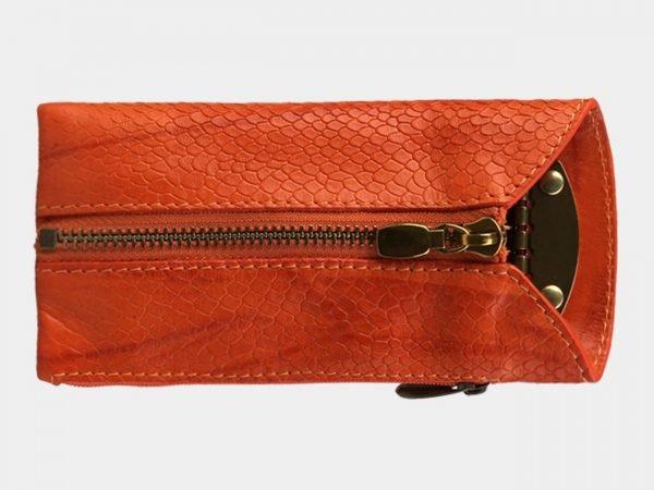 Кожаная оранжевая ключница ATS-3145