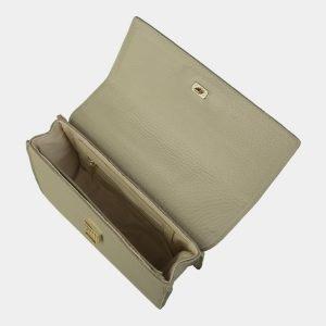 Кожаный светло-бежевый женский клатч ATS-3071 213589
