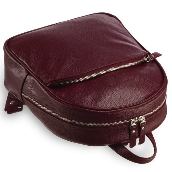 Деловой бордовый женский рюкзак BRL-17486