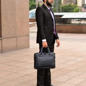 Функциональный синий мужской портфель деловой BRL-34108 223191