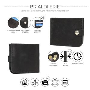 Уникальный черный мужской портмоне клатч BRL-7592 220603