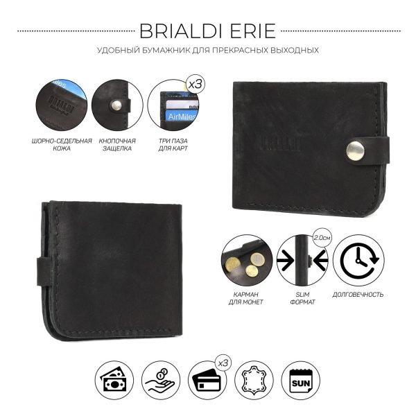 Удобный черный мужской портмоне клатч BRL-7592