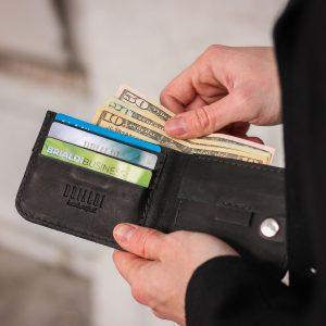Уникальный черный мужской портмоне клатч BRL-7592 220608