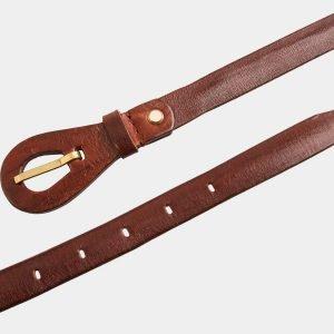 Неповторимый светло-коричневый женский модельный ремень ATS-1153 217020