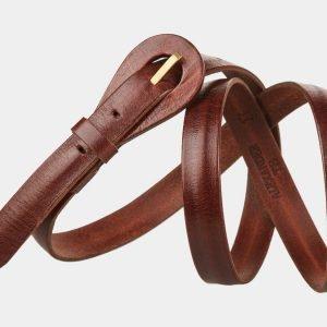 Неповторимый светло-коричневый женский модельный ремень ATS-1153 217021