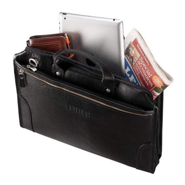 Вместительная черная мужская классическая сумка BRL-7