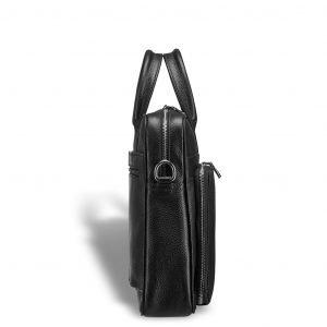Вместительная черная мужская кожгалантерея BRL-12051