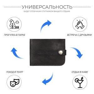 Уникальный черный мужской портмоне клатч BRL-7592 220609