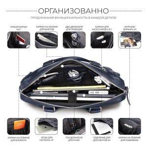 Функциональный синий мужской портфель деловой BRL-34108 223176