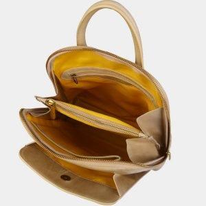 Неповторимый бежевый рюкзак с росписью ATS-3089 213551