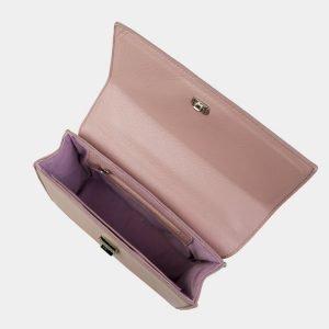 Кожаный лиловый женский клатч ATS-3058