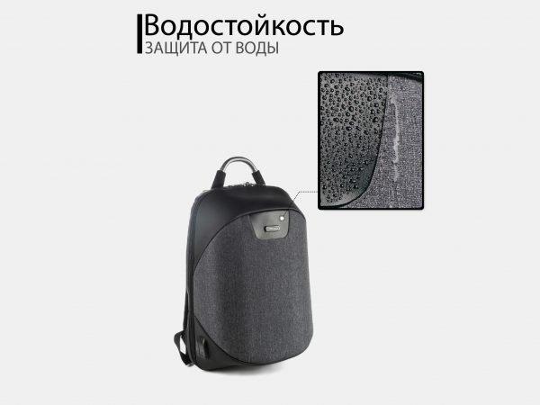 Уникальный черный рюкзак из пвх ATS-3819