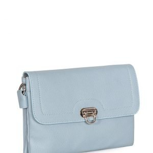 Кожаная голубая женская сумка FBR-1899