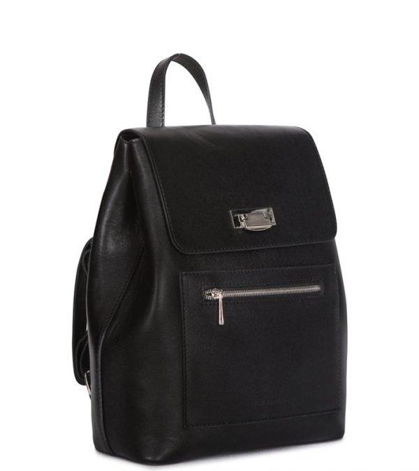 Кожаный черный женский рюкзак FBR-2601