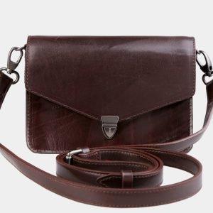 Удобная коричневая женская сумка на пояс ATS-3029
