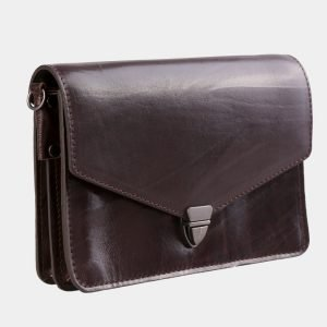Удобная коричневая женская сумка на пояс ATS-3029 213632
