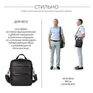 Функциональная черная мужская сумка через плечо BRL-34406 223380