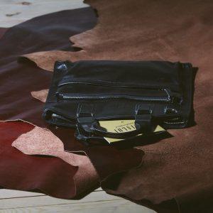 Деловая черная мужская кожгалантерея BRL-1017
