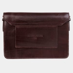 Удобная коричневая женская сумка на пояс ATS-3029 213633