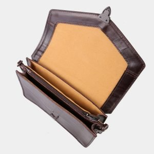 Удобная коричневая женская сумка на пояс ATS-3029 213634