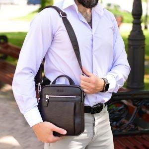 Неповторимая коричневая мужская сумка через плечо BRL-33398 223022
