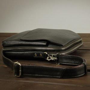 Кожаная коричневая мужская сумка через плечо BRL-26689