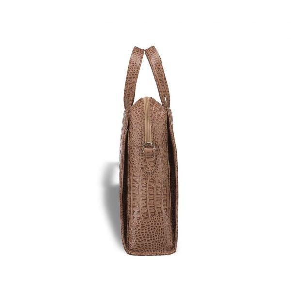 Стильная коричневая женская сумка портфель BRL-3376
