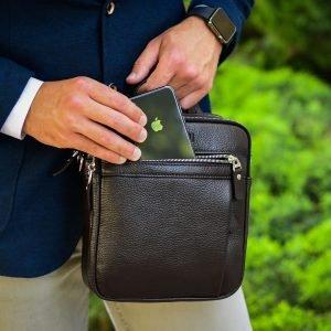 Неповторимая коричневая мужская сумка через плечо BRL-33398 223012