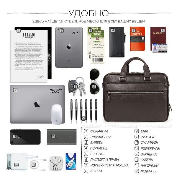Стильный черный мужской портфель рюкзак BRL-34134