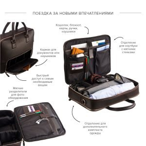 Уникальная коричневая мужская сумка трансформер через плечо BRL-23167