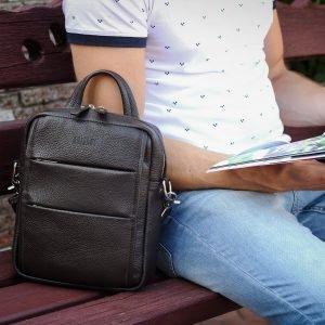 Модная коричневая мужская сумка через плечо BRL-34408 223402