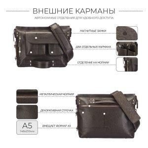 Удобная коричневая мужская сумка трансформер через плечо BRL-28405 222274