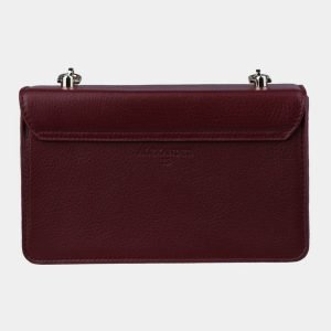 Кожаный бордовый женский клатч ATS-3099