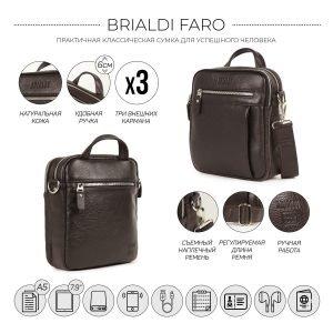 Неповторимая коричневая мужская сумка через плечо BRL-33398 223005