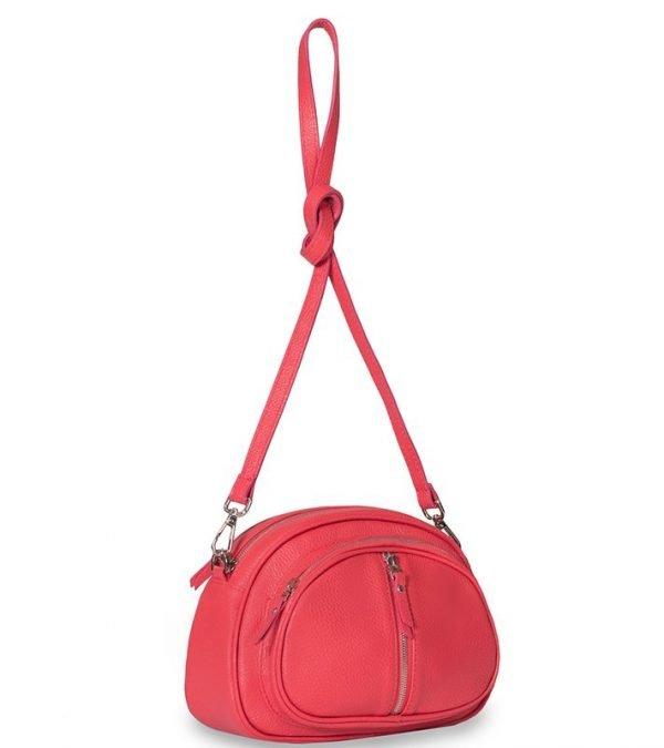 Функциональная розово-оранжевая женская сумка через плечо FBR-1898