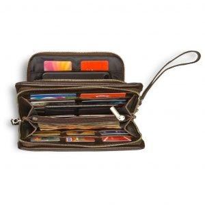 Удобная коричневая мужская сумка для мобильного телефона BRL-15149