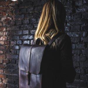 Деловой коричневый рюкзак BNZ-462