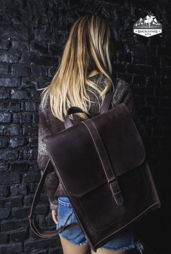 Функциональный коричневый рюкзак BNZ-462