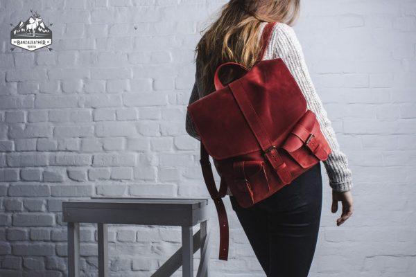 Неповторимый красный рюкзак BNZ-466