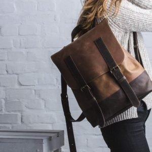 Удобный коричневый рюкзак BNZ-474